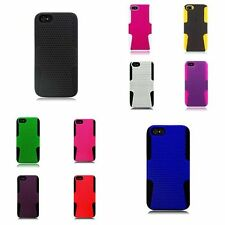 TPU Rubber Hard PC Candy Skin Mesh Case Cover For Apple iPhone 5 / 5S