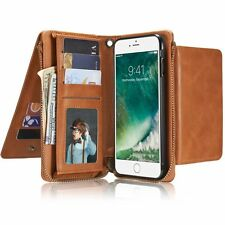 PU Leather Strap Cash Clutch Wallet Cards Case Cover For iPhone 6 6S Plus/7 Plus