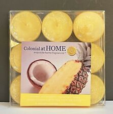 Colonial Candle TEALIGHT CANDLES Pack of 9 Tea Lights - 4 SCENT CHOICES