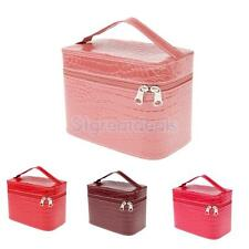 Women Girls Leather Bag Box Makeup Cosmetic Organizer Cases Storage Boxes