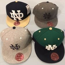 UNIVERSITY OF NOTRE DAME SELECT 1 OF 4 FLAT BRIM FITTED NCAA CAP MITCHELL & NESS