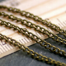18ft Vintage Style twist chains Antique Bronze Plated Crub Link Chain 2.3mm c212