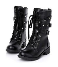 Shoes Woman Shoes For Women Short Boots Thick Martin Boots Line Skin Buckle Boot