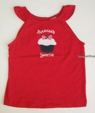 Gymboree 4th of July Top 2T 3T New Red White Blue Cupcake Shirt Girls Patriotic