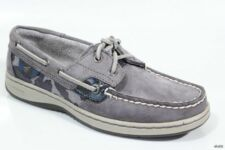 new SPERRY Top-Sider womens 'Bluefish' Gray Leather flats boat shoes size 5