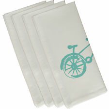 e by design Bicicleta Decorative Napkin Set of 4