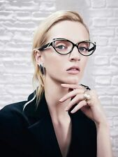 Cat Eye GOLDEN GIRL Thick Frame Clear Lens Eyeglasses Punch Glasses Specs