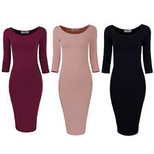 Women Sexy Lace Long Sleeve Bodycon Evening Party Cocktail Clubwear Midi Dress