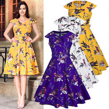 Rockabilly Vintage Dress Womens Evening Cocktail Party Retro 1950s Style Dress