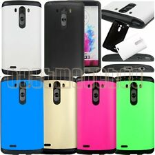 for LG G3 rugged hybrid 2 layer hard pc rubber shock proof case cover guard\