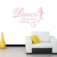 Dance like no one is watching Quote Ballet girl Wall Sticker Decal Decor Black