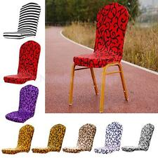Elastic Semicircle Dining Room Chair Seat Cover Slipcover Wedding Decoration
