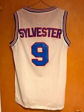 Sylvester #9 Space Jam Tune Squad Basketball Jersey White S M L XL XXL