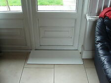 45mm Threshold Wheelchair Ramp, Bathroom Wedge Ramp, White 45mm wedge ramp