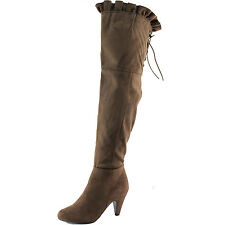Women Breckelle Leann-14 Thigh High Round Toe Over The Knee Fashion Boots