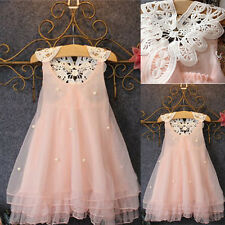 New Kids Baby Girls Flower Princess Dress Party Pageant Lace Tulle Tutu Dresses