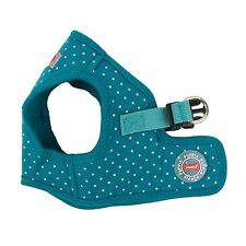 Dog Puppy Harness Soft Vest- Puppia - Dotty ll - Teal Blue - Choose Size
