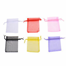 Colorful Wholesale Bulk Lots Organza Voile Jewelry Gift Favor Candy Bag Pouch
