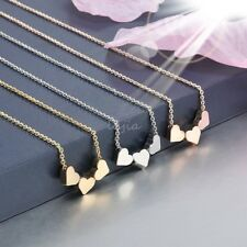 Fashion Stainless steel Women Jewelry Three Heart Charms Pendant Necklace New