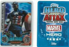 MARVEL  HERO ATTAX SERIES 2  SERIES TWO    LIMITED CARD LE1 CAPTAIN AMERICA