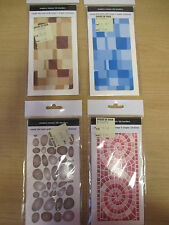 NEW - 8 x Modern Mosaic Border Tile Transfers for Bathrooms (Waterslide) RRP £3+