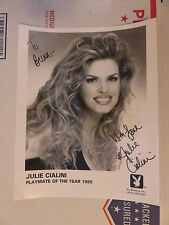 PLAYBOY PLAYMATE JULIE CIALINI Autograph Signed 8x10  Promo Photo to brian