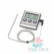 Digital Kitchen BBQ Barbecue Cooking Timer Thermometer Probe Food Thermometer