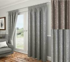 One Pair Of Carlton Folia All Over Design Fully Lined Pencil Pleat Curtains