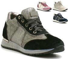WOMENS TRAINERS VELVET SPORTS RUNNING GYM FITNESS EXERCISE FASHION SHOES SIZE