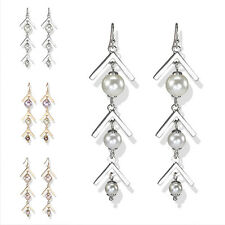Man women Simple Pearl Lot Earring Ear Stud Eardrop Hook Innovative Dangle Lover