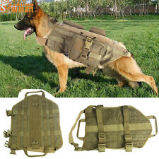 1X Dog Vest MOLLE System Tactical Army Dog Harness Vest Lead Bearing Clothes CB
