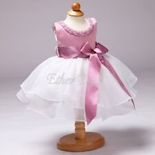 New Flower Girl Summer Princess Dress Kids Baby Party Wedding Tulle Tutu Dresses