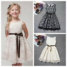 Flower Girl Dress Princess Vintage Special Occasion Party Wedding Lace