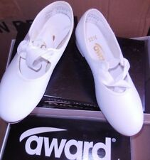 NEW/BOX Award Citation Little Girls Tap Shoes white TS130 Taps Attached