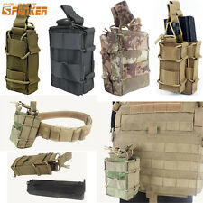 Tactical Molle Belt Waist Bag Single/Double Rifle Magazine Pouch Pistol Holster