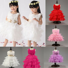 Flower Girl Kid Princess Wedding Bridesmaid Partys Formal Sequin Ball Gown Dress