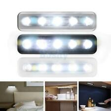 Battery Powered LED Under Cabinet Wall Closet Touch Push Tap Light Lamp Adhesive