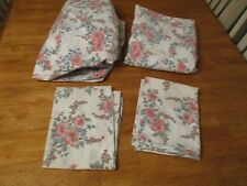 VINTAGE CANNON MONTICEELO  4 PC FULL SHEET SET FLORAL