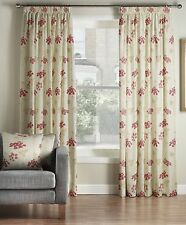 One Pair Of MONTGOMERY Floral Pattern Salisbury Pencil Pleat Lined Curtains