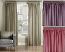 One Pair Of MONTGOMERY Luxury Plain Vogue Pencil Pleat Lined Curtains