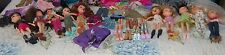HUGE 10 BRATZ DOLLS  LOT WITH 39 CLOTHES AND 12 PAIR OF SHOES