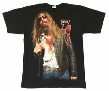 Rob Zombie Bloody Pic Image 2010 USA CDN Tour Black T Shirt New Official