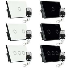 1/2/3 Gang 1-Way Lamp Light Remote Control Wall Switch Waterproof Touch Panel