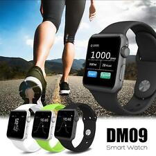 Fashion DM09 Bluetooth Sport Smart Watch SIM Phone Mate For iOS iPhone Android