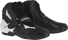 Mens Alpinestars Black White Vented SMX-1R Motorcycle Riding Street Racing Boots