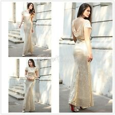 Formal Long Women Seuin Dress Prom Evening Party Cocktail Bridesmaid Wedding