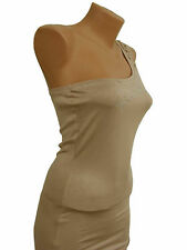 Roberto Cavalli woman's beige top dress tunic size S
