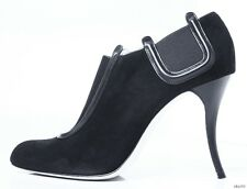 """new $1095 MANOLO BLAHNIK """"Peresil"""" black suede ANKLE BOOTS booties - AMAZING"""