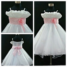 Kids Girl Communion Christening Wedding Flower Girls Dresses SIZE 1-2-4-6-8-10T