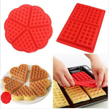Silicone Mini Waffles Muffins Cake Chocolate Pan Bakeware Mold Kitchen Tray Tool
